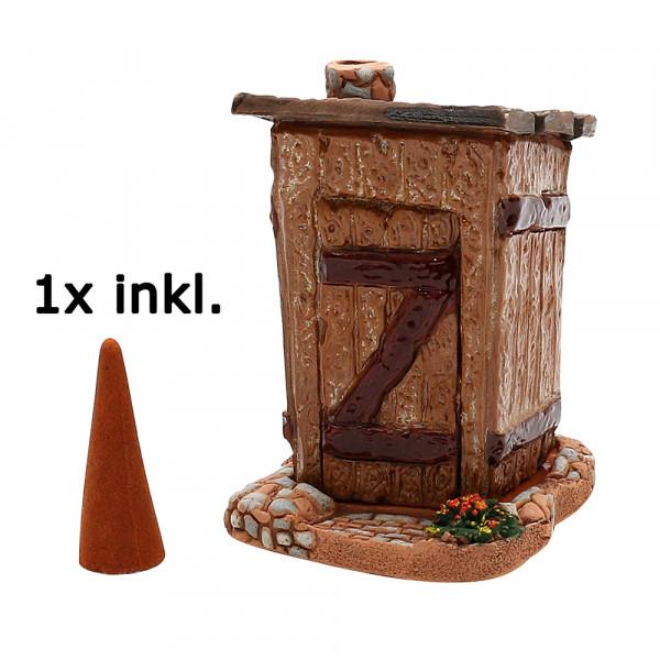 Keramik Räucher-Toilettenhäusel 7 x 7 x 10 cm