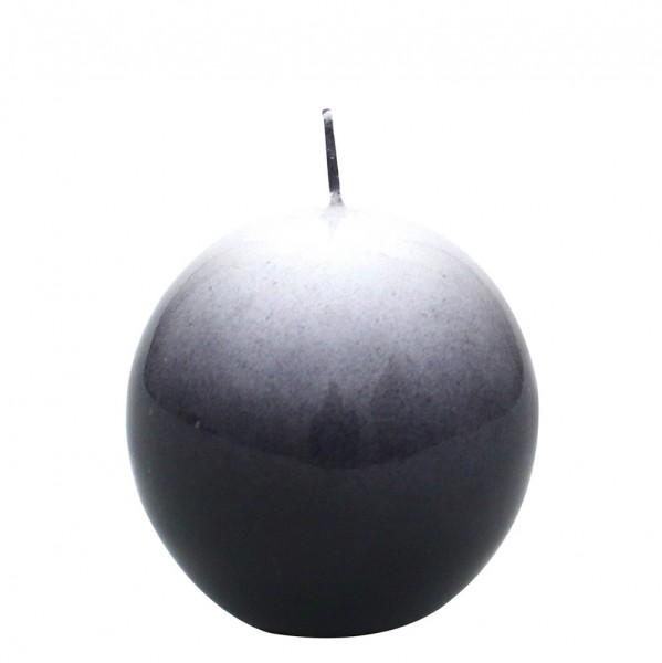 Airbrushkerze gelackt, schwarz 6 x 6 x 6 cm