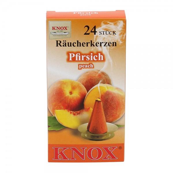 KNOX-Räucherkerzen Pfirsich 6,5 x 2,2 x 12,5 cm
