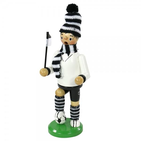 Holz Räucherfigur Fußballer, schwarz/weiß 7 x 8 x 24 cm