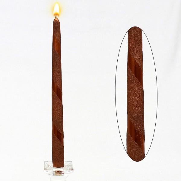Leuchterkerze Kupfer Metallic Spirale 2,3 x 2,3 x 30 cm