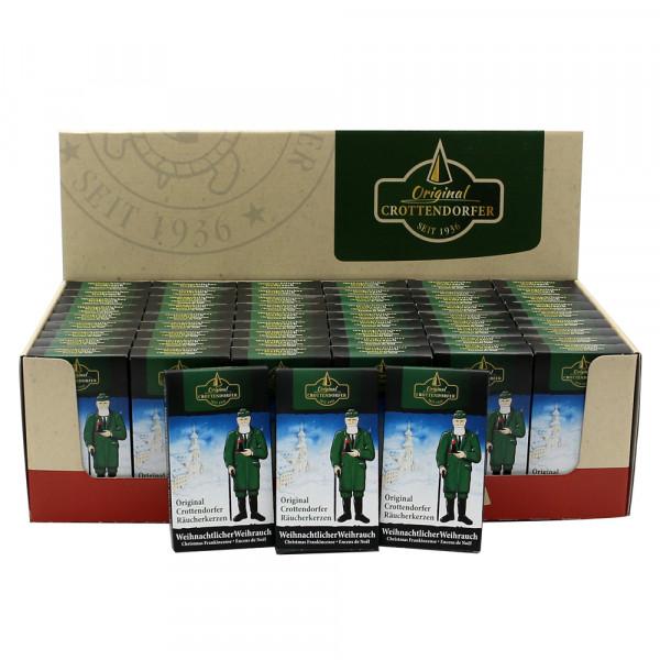 60er Set Crottendorfer-Räucherkerzen Weihrauch im Display 38 x 22,5 x 11 cm