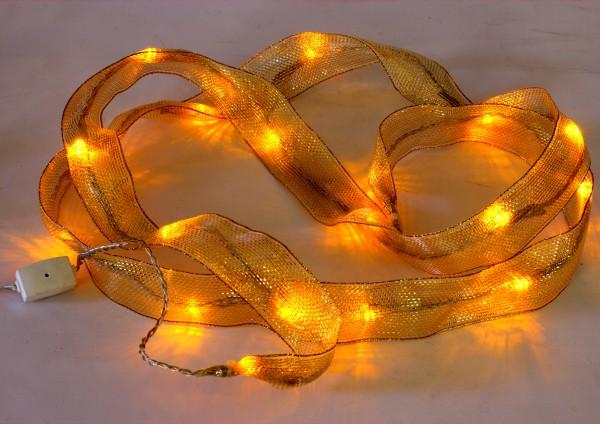 LED-Lichterband Weihnachtsdeko mit 20 LED und Steckernetzteil, IP20