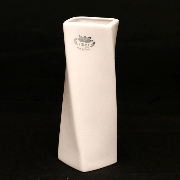 Keramik Vase Samba, Weiß 9,5 x 9,5 x 22 cm
