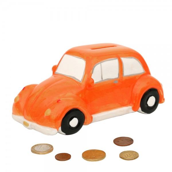 Dolomite Spardose Oldtimer orange 18 x 8,7 x 8 cm