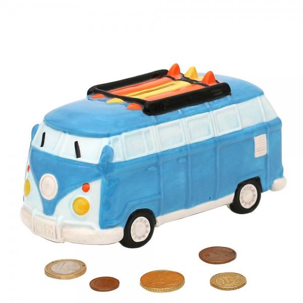 Dolomite Spardose Bus blau 16 x 7 x 8,3 cm