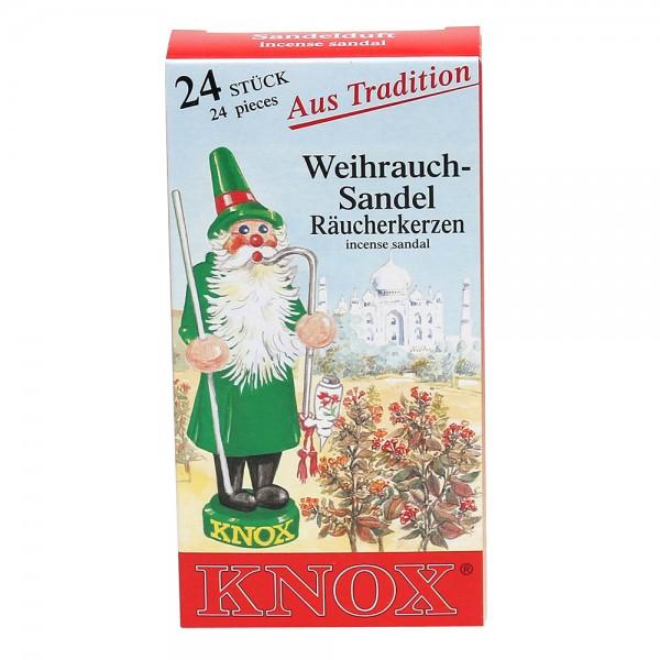 KNOX-Räucherkerzen Sandel 6,5 x 2,2 x 12,5 cm