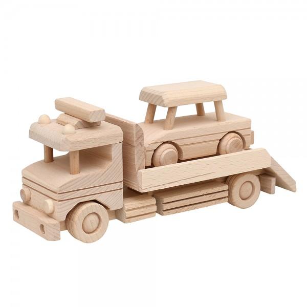 Holz Autotransporter zur Deko, natur 28 x 8,5 x 12 cm