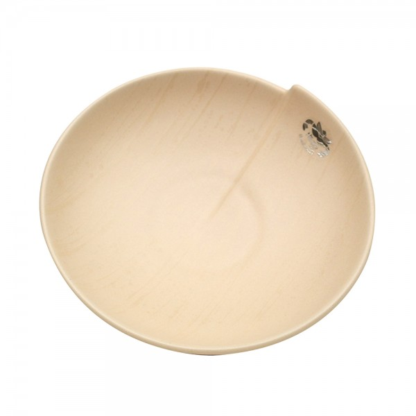 Keramik Schale Bali, Champagner 23 x 23 x 5,5 cm