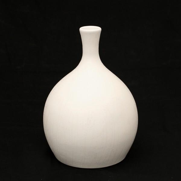 Keramik Vase Linea dick, Weiß 18 x 18 x 26 cm
