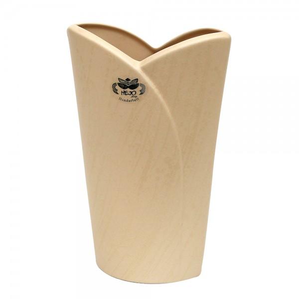 Keramik Vase Riva, Champagner 20 x 9 x 34 cm