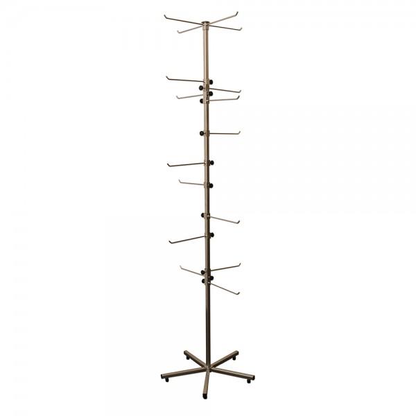 Metall Drehständer mit 16 höhenverstellbaren Armen 50 x 50 x 190 cm Ø 50 cm