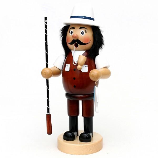 Holz Räuchermann Angler 14,5 x 12 x 34 cm XXL