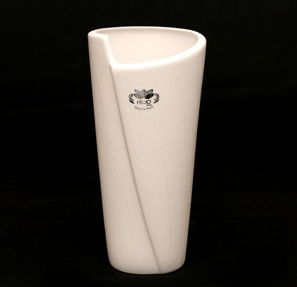 Keramik Vase Bali, Weiß 12 x 12 x 25 cm