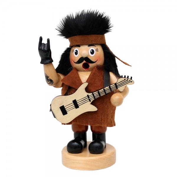 Holz Räuchermann Rocker mit Gitarre natur 10 x 7 x 15 cm