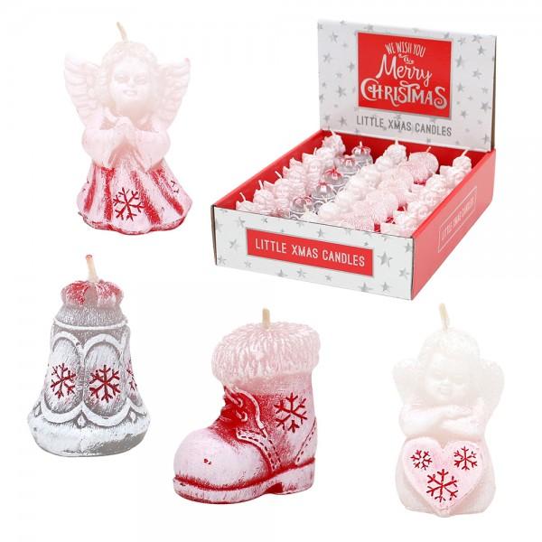 Weihnachtsfiguren-Mix Engel, Glocke & Stiefel 4-fach sort. 5 cm im Set