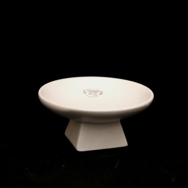 Keramik Schale auf Fuß, Weiß 16,5 x 16,5 x 7,5 cm