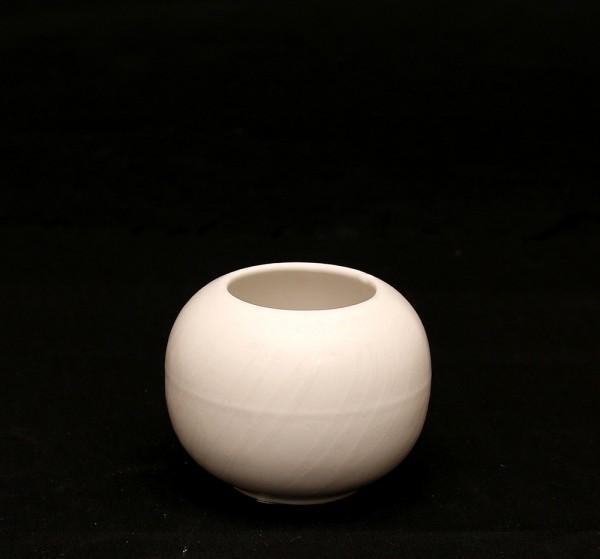 Keramik Vase Orion, Weiß 9,5 x 9,5 x 7 cm