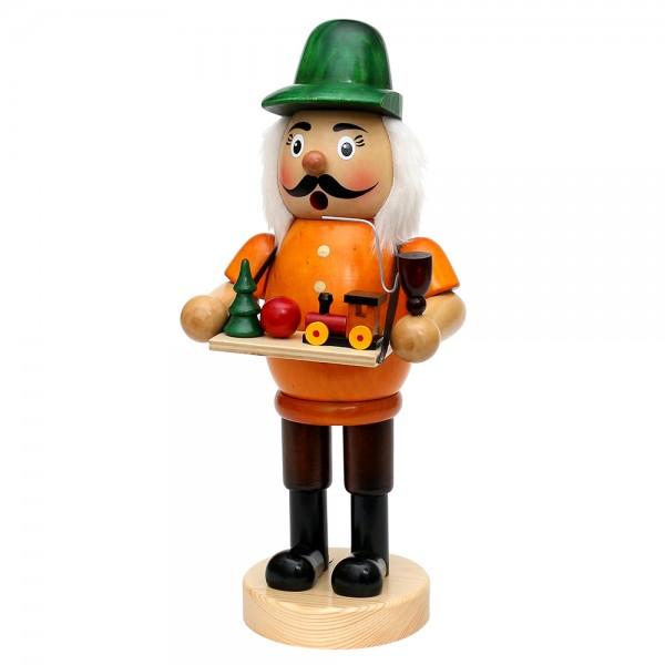 Holz Räuchermann Spielzeughändler, bunt 14,5 x 12 x 34 cm XXL