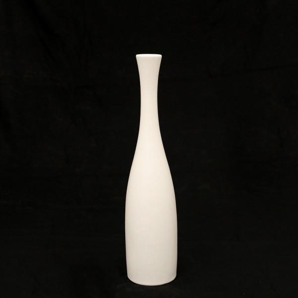 Keramik Vase Flasche, Weiß 8,5 x 8,5 x 37,5 cm
