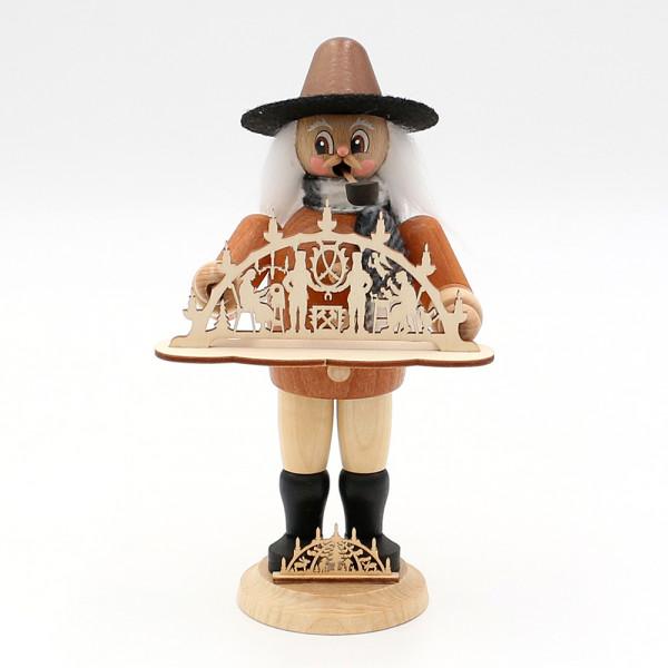 Holz Räuchermann Gerhard der Schwibbogenverkäufer 12 x 9 x 21 cm