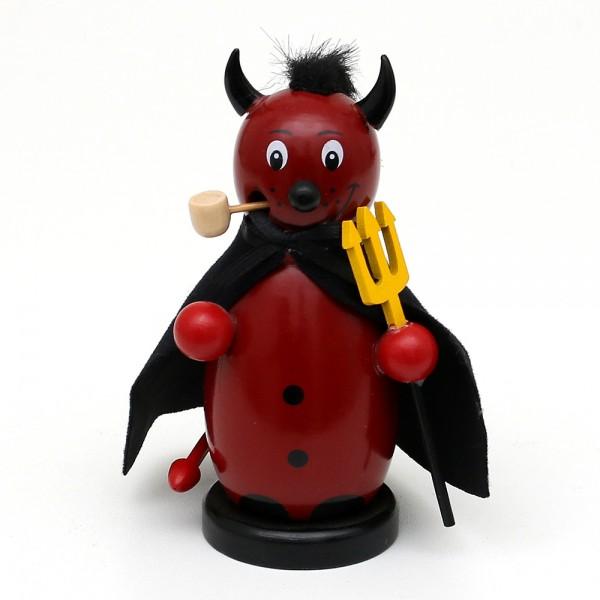 Holz Räucherfigur Teufel rot 5 x 5 x 12 cm