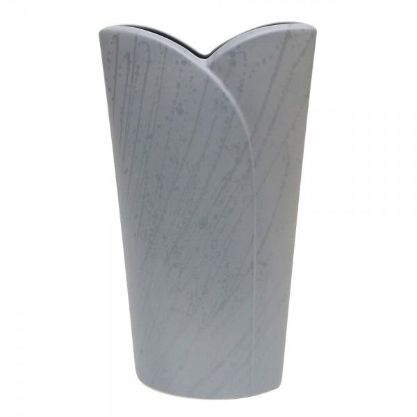 Keramik Vase Riva, Grau 20 x 9 x 34 cm