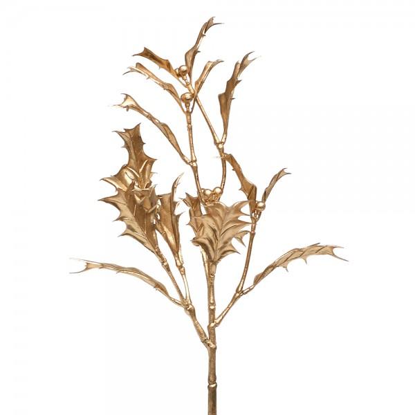 Kunststoff Holly spray Noor gold ca. 19 x 12 x 35 cm