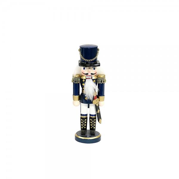 Holz Nussknacker Soldat blau 5 x 4 x 15 cm