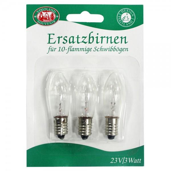 3er Set 3er Spitzkerzen-Blister 23 V / 3 Watt (für 10-flammige SB) 8 x 1 x 11 cm 10 flammig, SPK