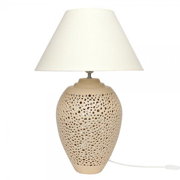 Keramik Tischlampe Galaxy (Leuchtmittel nicht enthalten), Champagner 45 x 45 x 68 cm 230 V Kabel, E14, E27