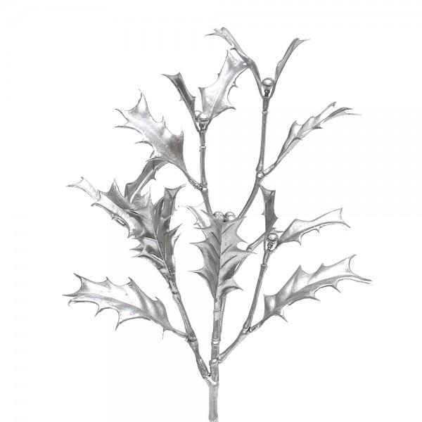Kunststoff Holly spray Noor silver ca. 19 x 12 x 35 cm