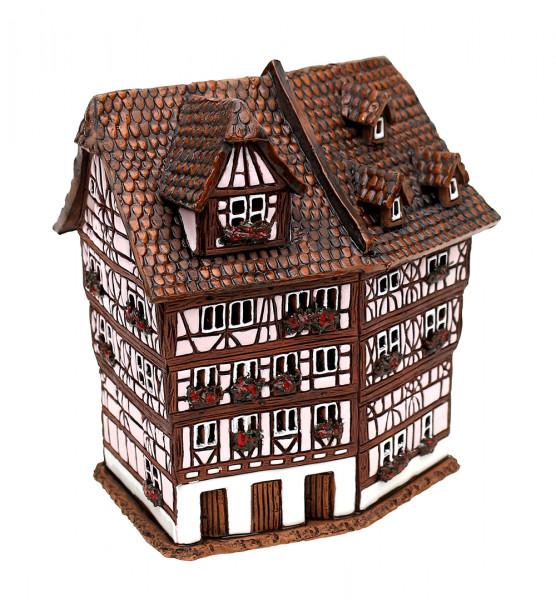 Keramik Licht-Duftölhaus (in Schornstein) Löwenapotheke Aschaffenburg 10 x 15 x 15 cm