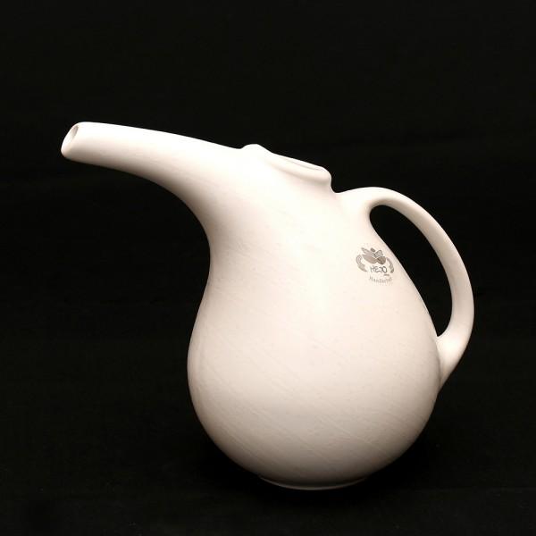Keramik Kanne für 1 Liter, Weiß 25 x 12,5 x 20,5 cm