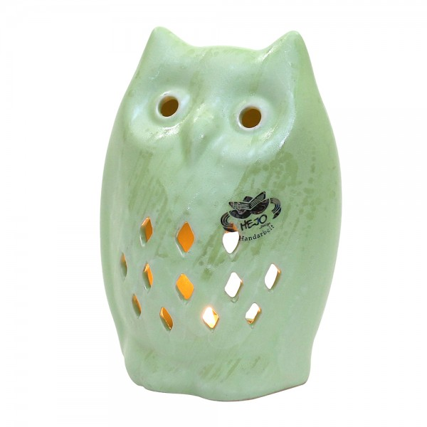 Keramik Teelichthalter Eule, SAVA 12,5 x 9,5 x 17,5 cm