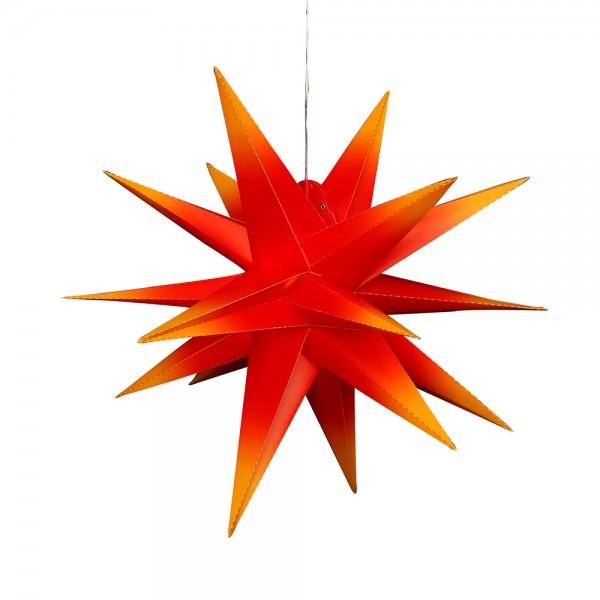 Kunststoff Falkensteiner Adventsstern 18 Spitzen zum Aufklappen, rot/gelb 60 x 60 x 60 cm inkl. Adapter 4,5 V, LED, wetterfest/für außen geeignet