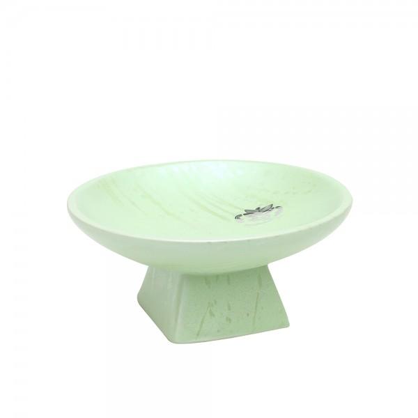 Keramik Schale auf Fuß, SAVA 16,5 x 16,5 x 7,5 cm