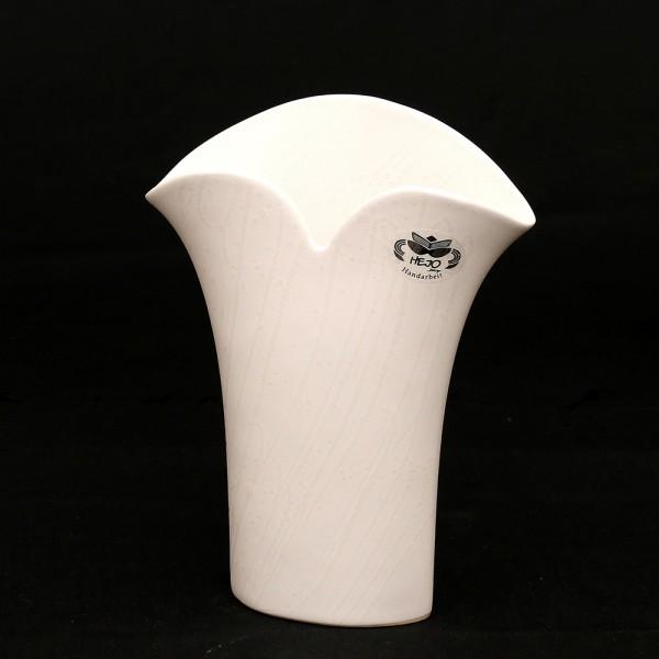 Keramik Vase Mona, Weiß 18,5 x 7,5 x 24 cm