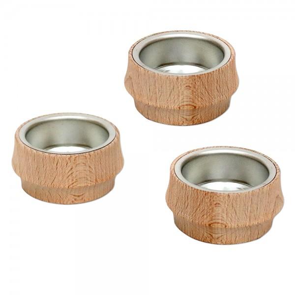 Holz Teelichttülle für Pyramiden im Beutel 5,5 x 5,5 x 3 cm