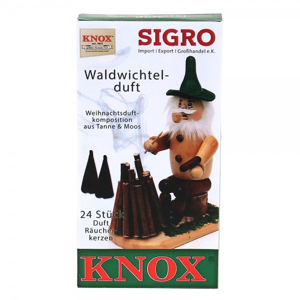 KNOX-Räucherkerzen Waldwichtelduft Weihnachtsduftkomposition Tannenwald 6,5 x 2,2 x 12,5 cm