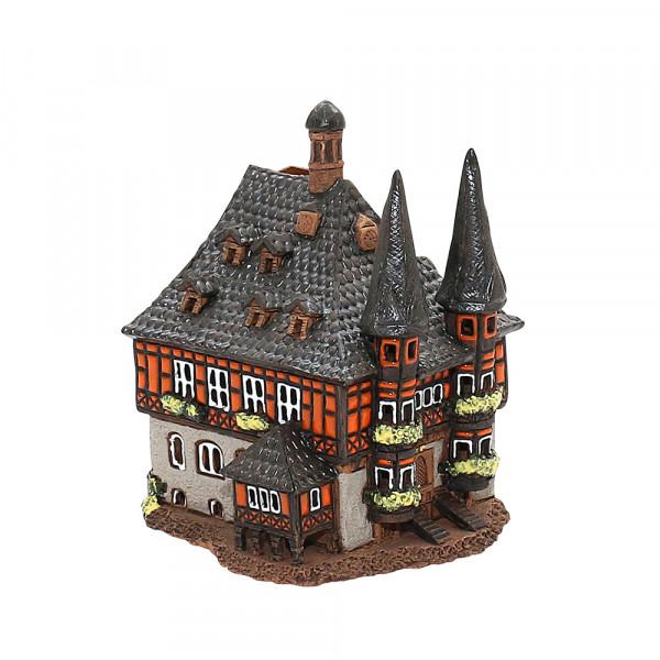 Keramik Licht-Duftölhaus (in Schornstein) Rathaus Wernigerode 12 x 12,5 x 15 cm