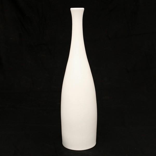 Keramik Vase Flasche, Weiß 11 x 11 x 43 cm