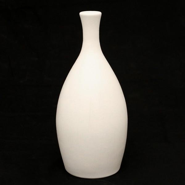 Keramik Vase Linea schmal, Weiß 14 x 14 x 31 cm