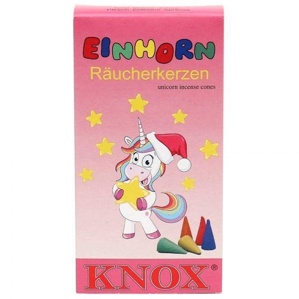 KNOX-Räucherkerzen Einhorn Apfel/Melone/Zitrone/Pfirsich/Erdbeere/Aprikose 6,5 x 2,2 x 12,5 cm