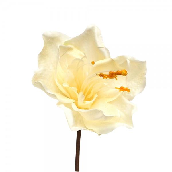 Kunststoff PSO Amaryllis spray Nicolah ivory ca. 15 x 10 x 27 cm