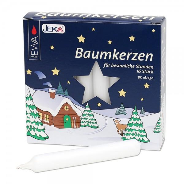 16er Baumkerzen, weiß 1,4 x 1,4 x 11,5 cm