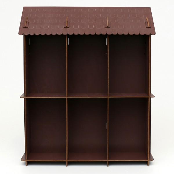 Holz Display braun, für Mini-Schwibbogen Doppelglocke 49 x 11 x 40,5 cm