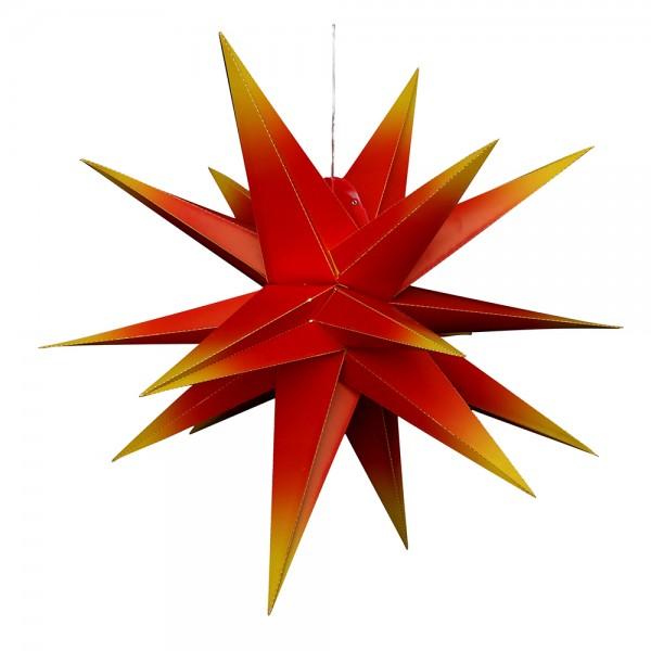 Kunststoff Falkensteiner Adventsstern 18 Spitzen zum Aufklappen, rot/gelb 80 x 80 x 80 cm inkl. Adapter 4,5 V, LED, wetterfest/für außen geeignet