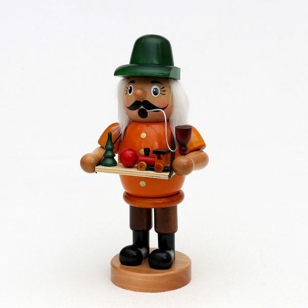 Holz Räuchermann Spielzeughändler, bunt 11 x 9 x 24 cm XL