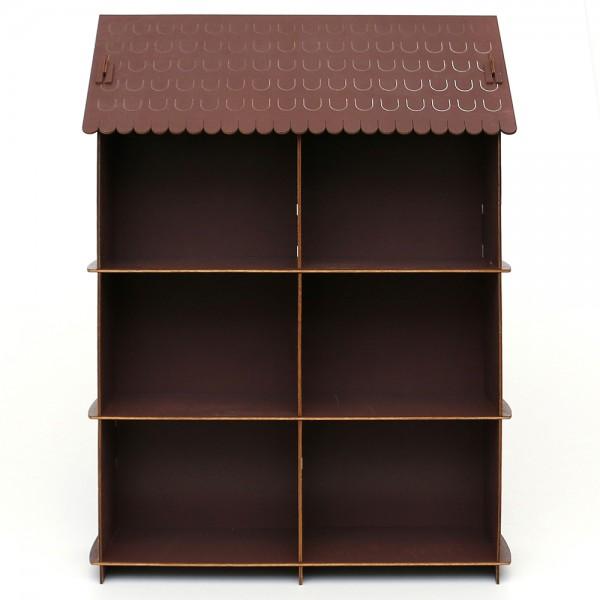 Holz Display braun, für Mini-Schwibbögen 51 x 12,5 x 37 cm
